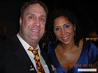Steffi Jones, Weltfussballerin und Stephan Pokorny auf dem Ball des Sports 2010